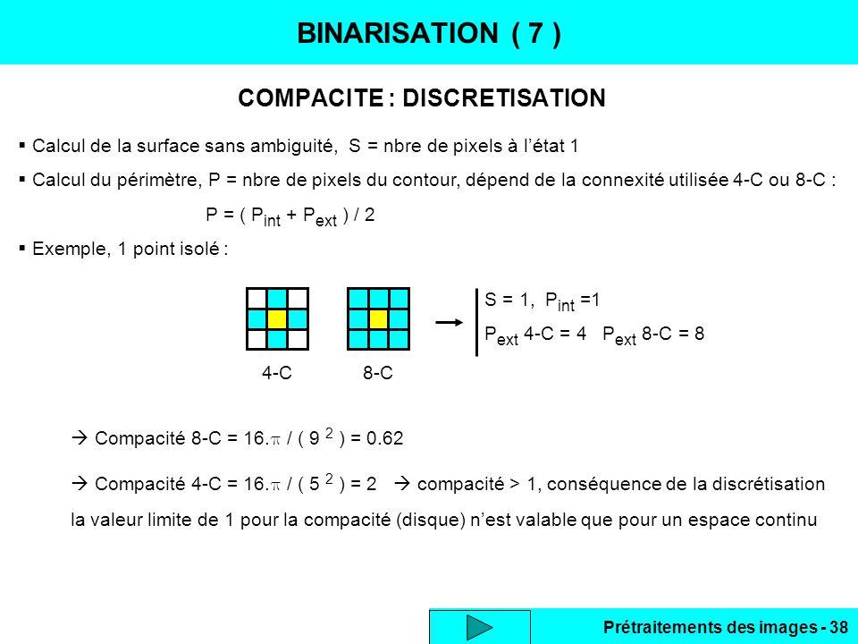COMPACITE : DISCRETISATION