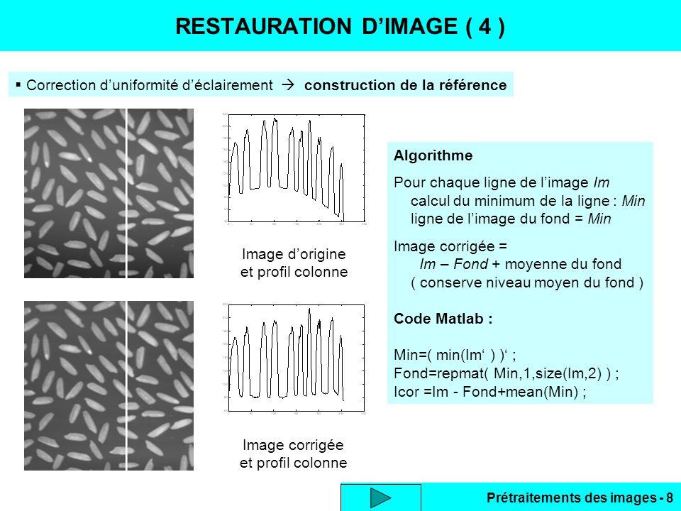 RESTAURATION D'IMAGE ( 4 )
