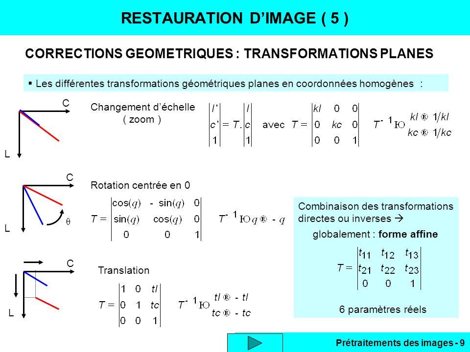 RESTAURATION D'IMAGE ( 5 )