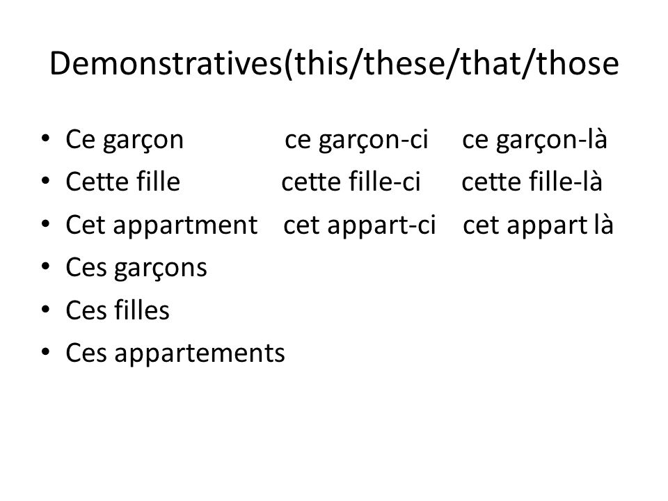 Demonstratives(this/these/that/those