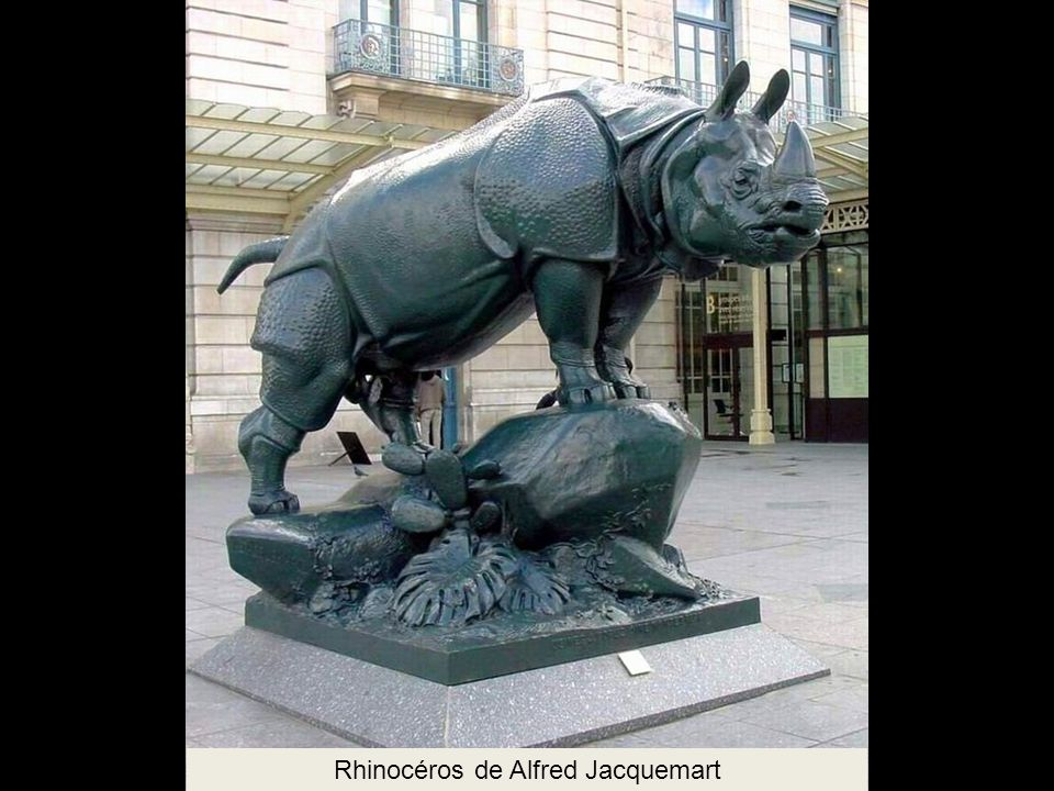 Rhinocéros de Alfred Jacquemart