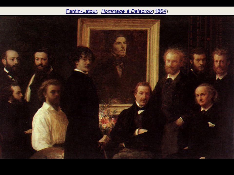 Fantin-Latour, Hommage à Delacroix(1864)
