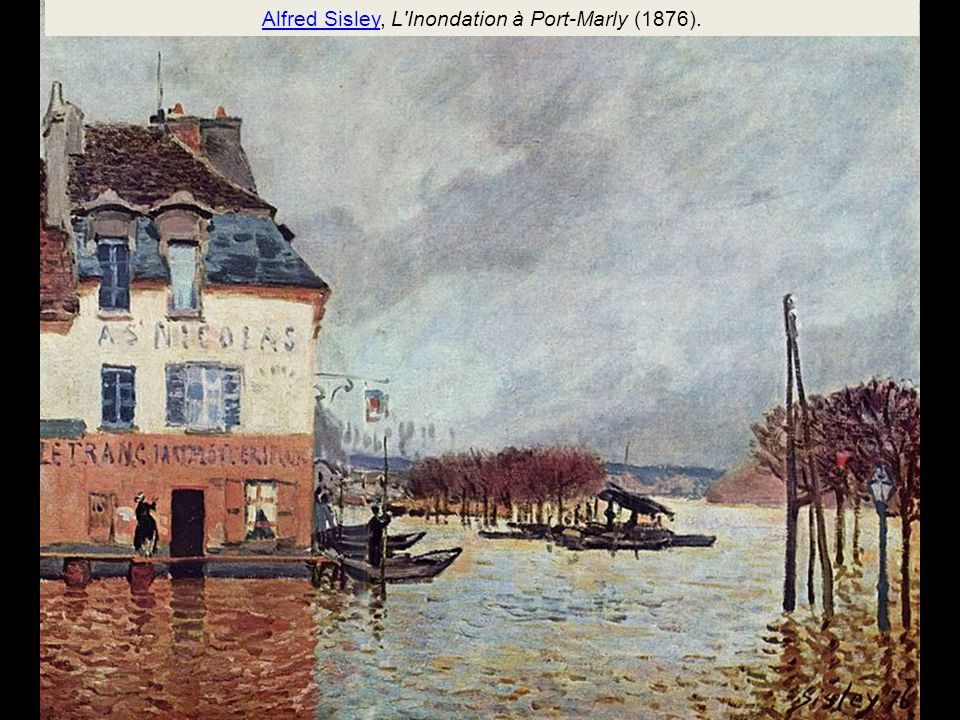 Alfred Sisley, L Inondation à Port-Marly (1876).