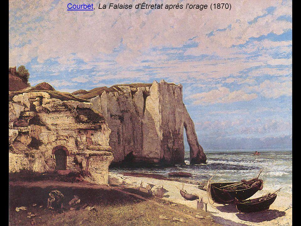 Courbet, La Falaise d Étretat après l orage (1870)