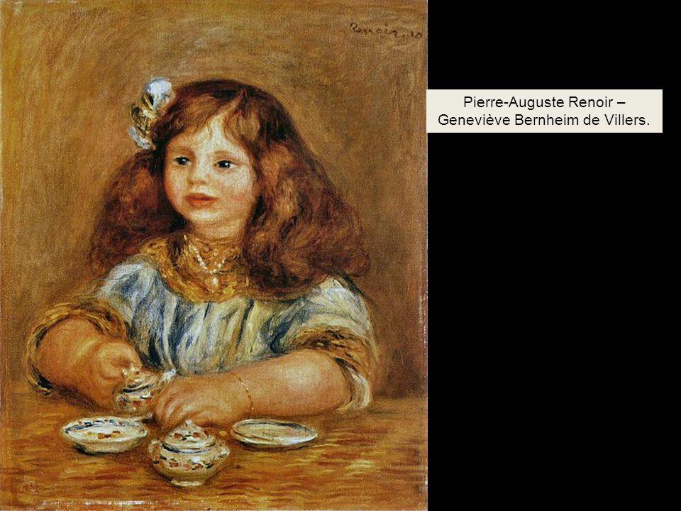 Pierre-Auguste Renoir – Geneviève Bernheim de Villers.