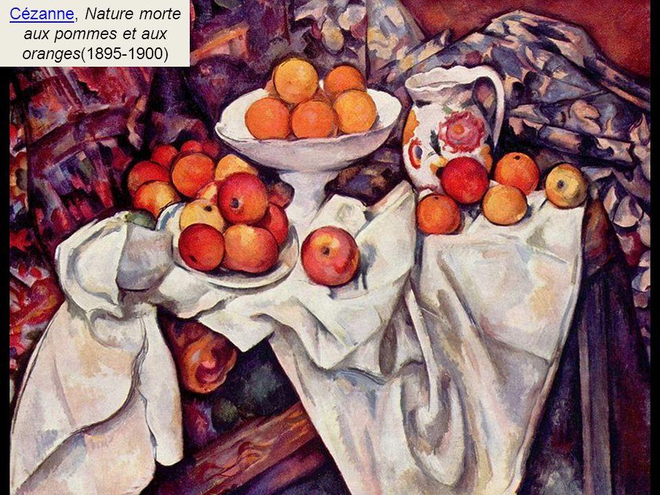 Cézanne, Nature morte aux pommes et aux oranges(1895-1900)
