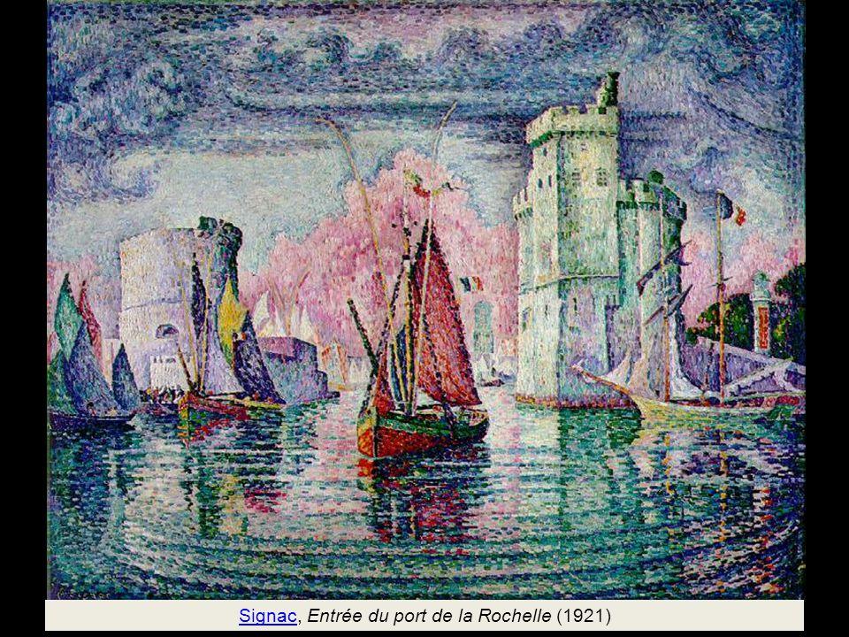 Signac, Entrée du port de la Rochelle (1921)