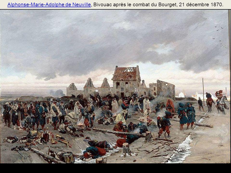 Alphonse-Marie-Adolphe de Neuville, Bivouac après le combat du Bourget, 21 décembre 1870.
