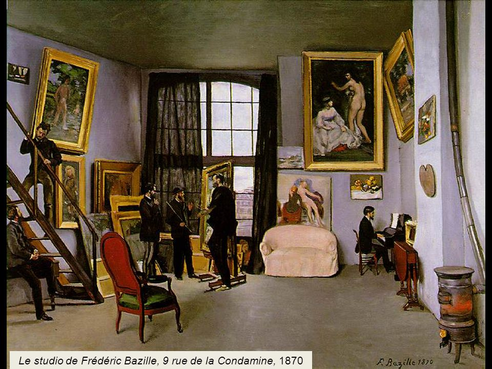 Le studio de Frédéric Bazille, 9 rue de la Condamine, 1870