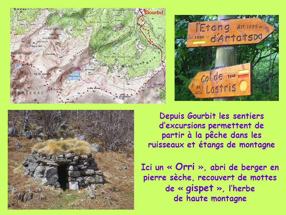 Depuis Gourbit les sentiers d'excursions permettent de partir à la pêche dans les ruisseaux et étangs de montagne