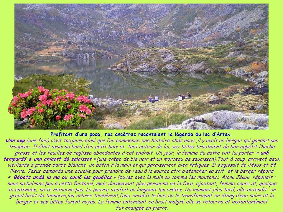 Profitant d'une pose, nos ancêtres racontaient la légende du lac d'Artax.