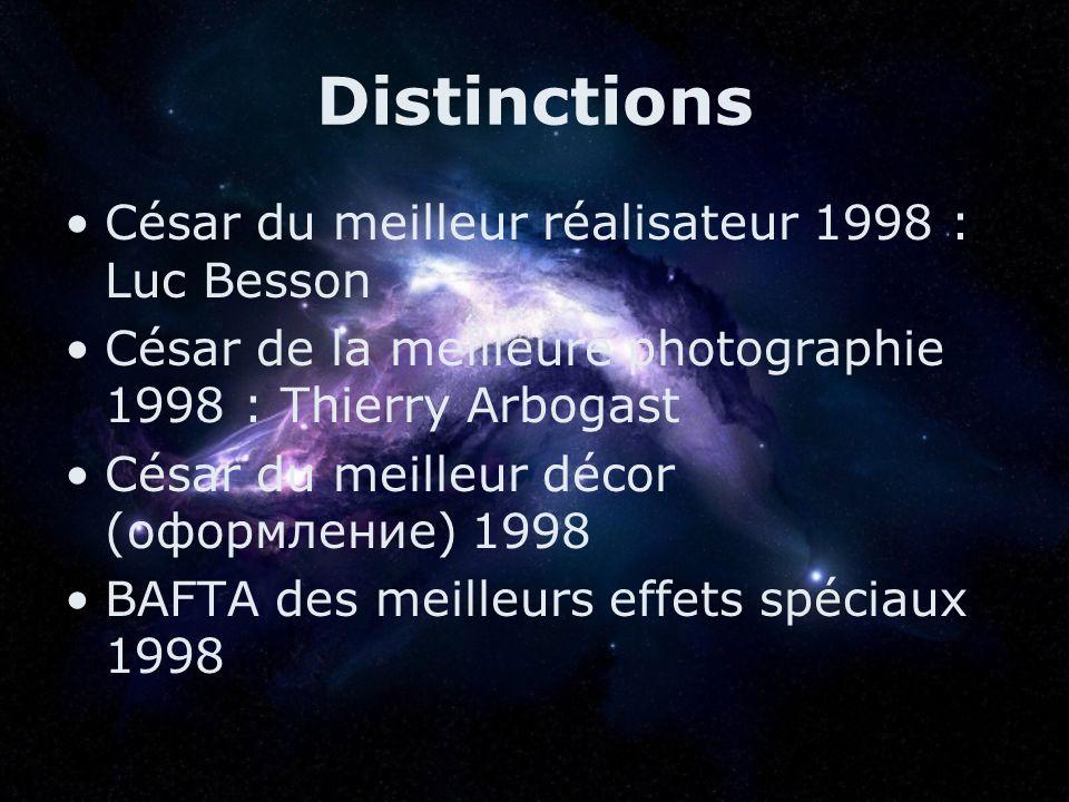 Distinctions César du meilleur réalisateur 1998 : Luc Besson