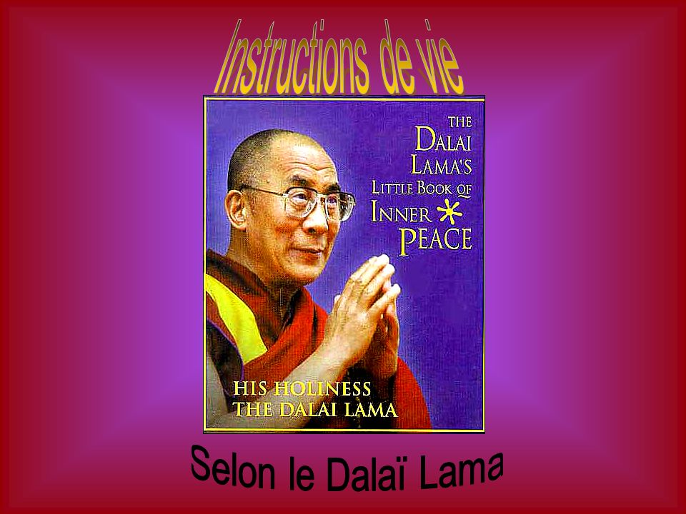 Instructions de vie Selon le Dalaï Lama