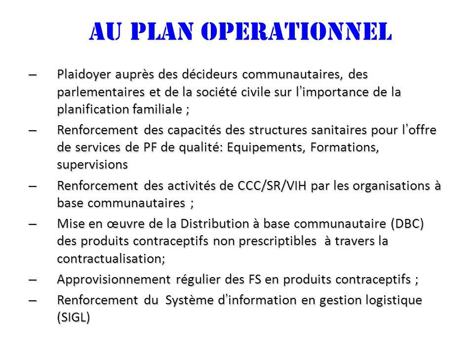 AU PLAN OPERATIONNEL