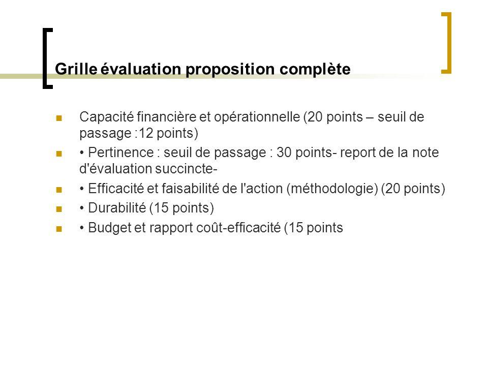 Grille évaluation proposition complète