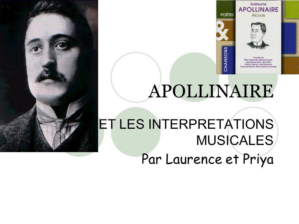 ET LES INTERPRETATIONS MUSICALES Par Laurence et Priya