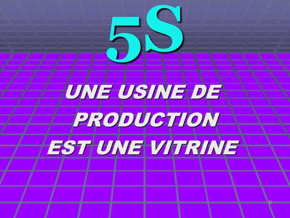 5S UNE USINE DE PRODUCTION EST UNE VITRINE