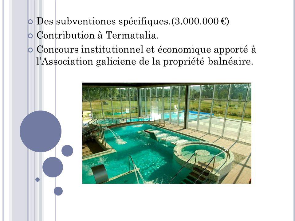 Des subventiones spécifiques.(3.000.000 €)