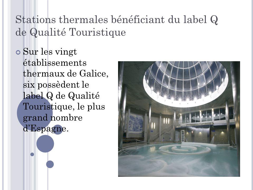 Stations thermales bénéficiant du label Q de Qualité Touristique