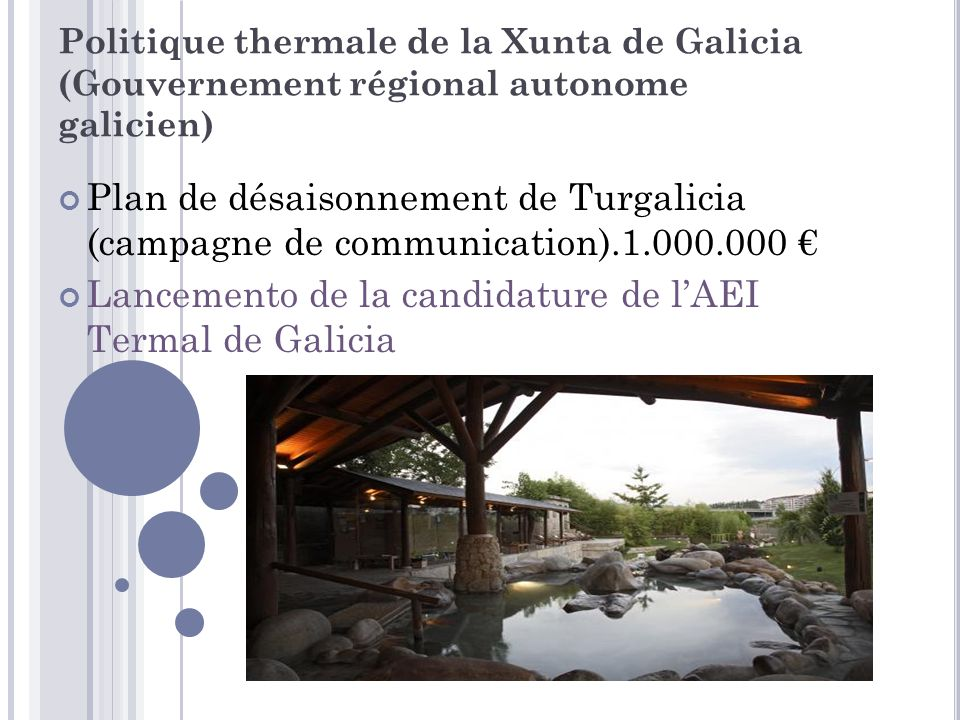 Lancemento de la candidature de l'AEI Termal de Galicia
