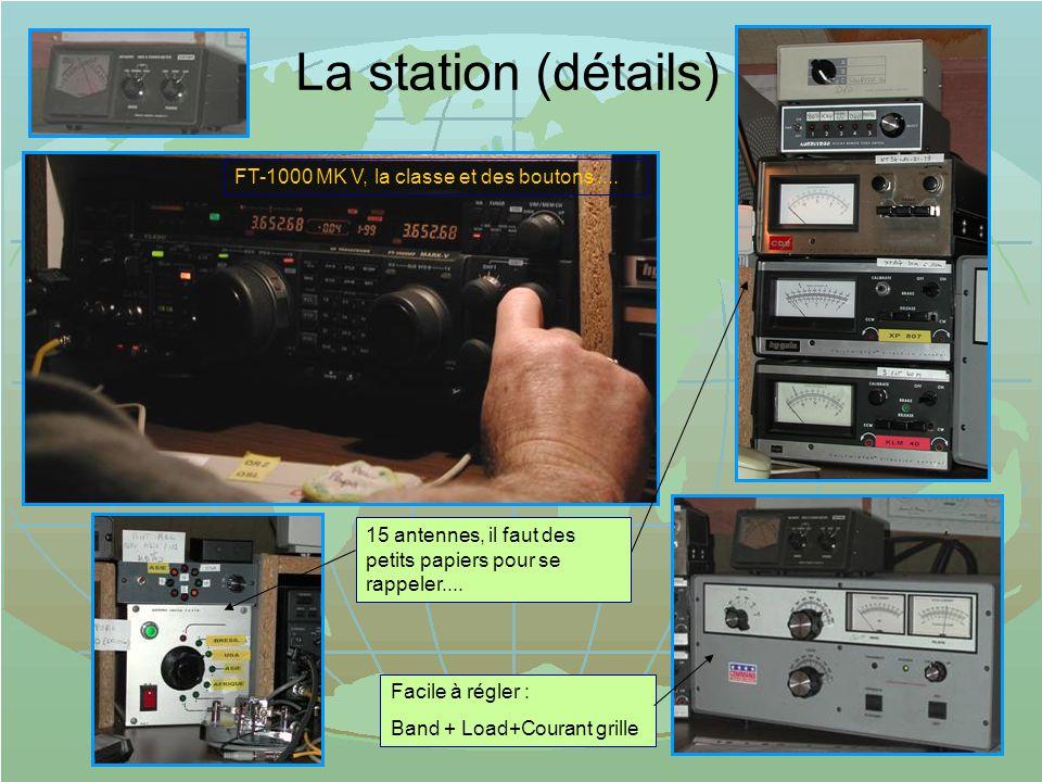 La station (détails) FT-1000 MK V, la classe et des boutons ....