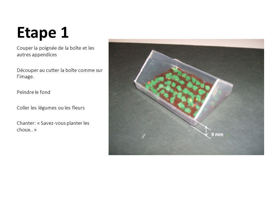 Etape 1 Couper la poignée de la boîte et les autres appendices