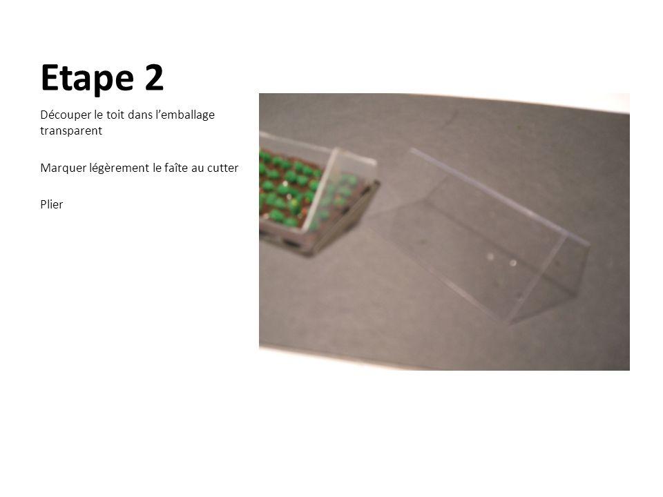 Etape 2 Découper le toit dans l'emballage transparent