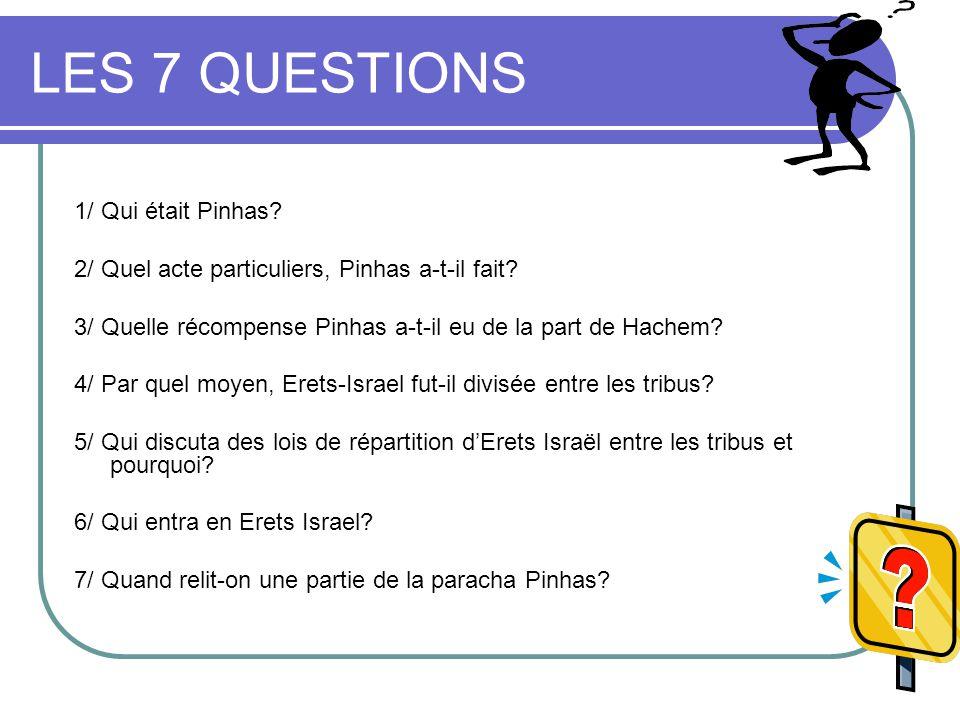 LES 7 QUESTIONS 1/ Qui était Pinhas
