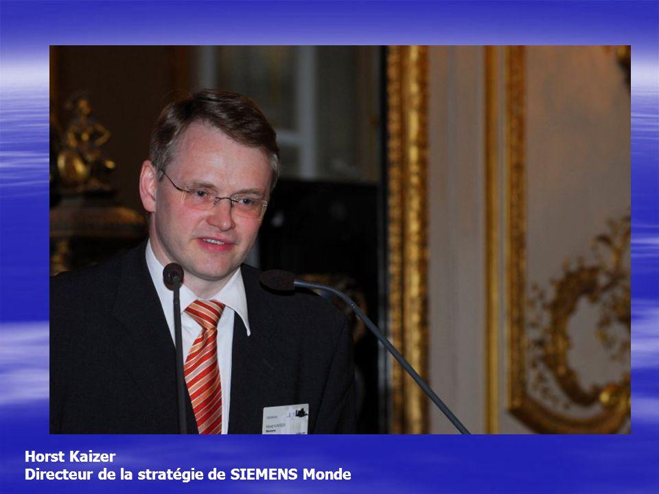 Horst Kaizer Directeur de la stratégie de SIEMENS Monde
