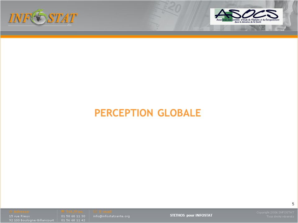 PERCEPTION GLOBALE