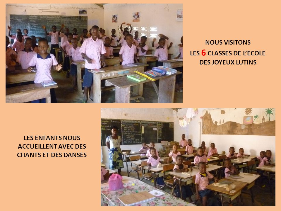 LES 6 CLASSES DE L'ECOLE DES JOYEUX LUTINS