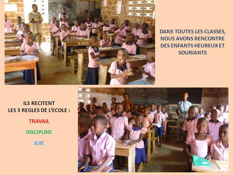 DANS TOUTES LES CLASSES, NOUS AVONS RENCONTRE DES ENFANTS HEUREUX ET SOURIANTS