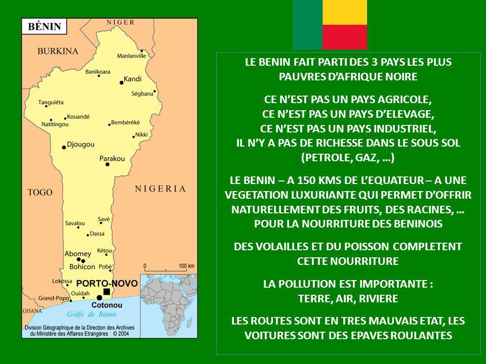 LE BENIN FAIT PARTI DES 3 PAYS LES PLUS PAUVRES D'AFRIQUE NOIRE