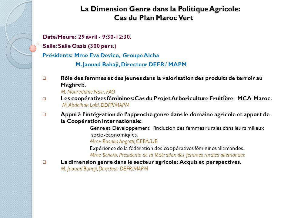 La Dimension Genre dans la Politique Agricole: