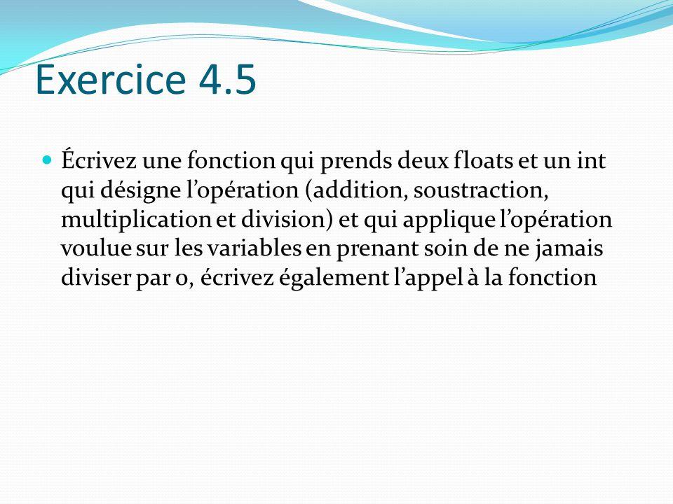 Exercice 4.5