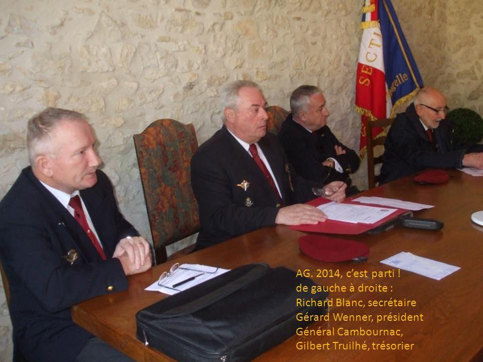 AG. 2014, c'est parti ! de gauche à droite : Richard Blanc, secrétaire. Gérard Wenner, président.