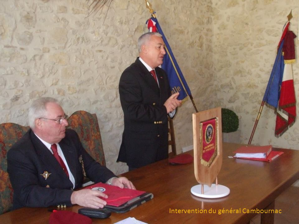 Intervention du général Cambournac