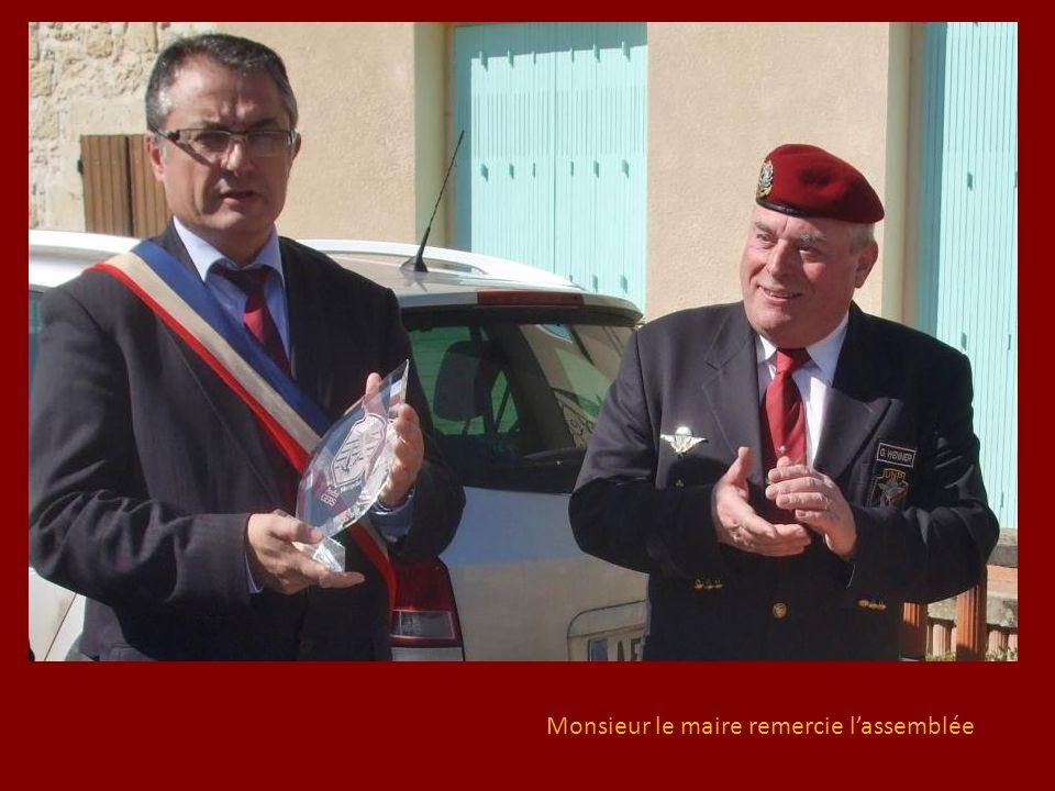 Monsieur le maire remercie l'assemblée
