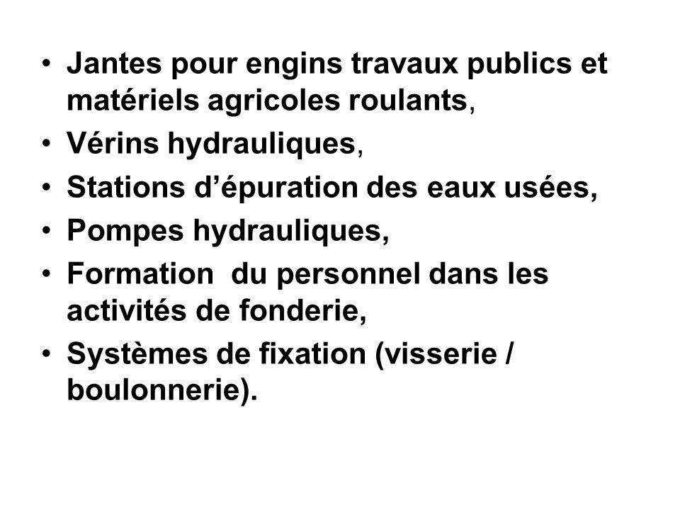 Jantes pour engins travaux publics et matériels agricoles roulants,