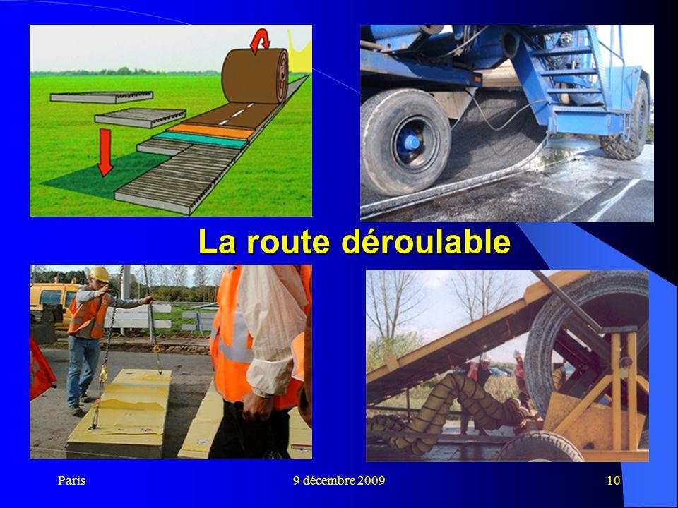 La route déroulable Paris 9 décembre 2009