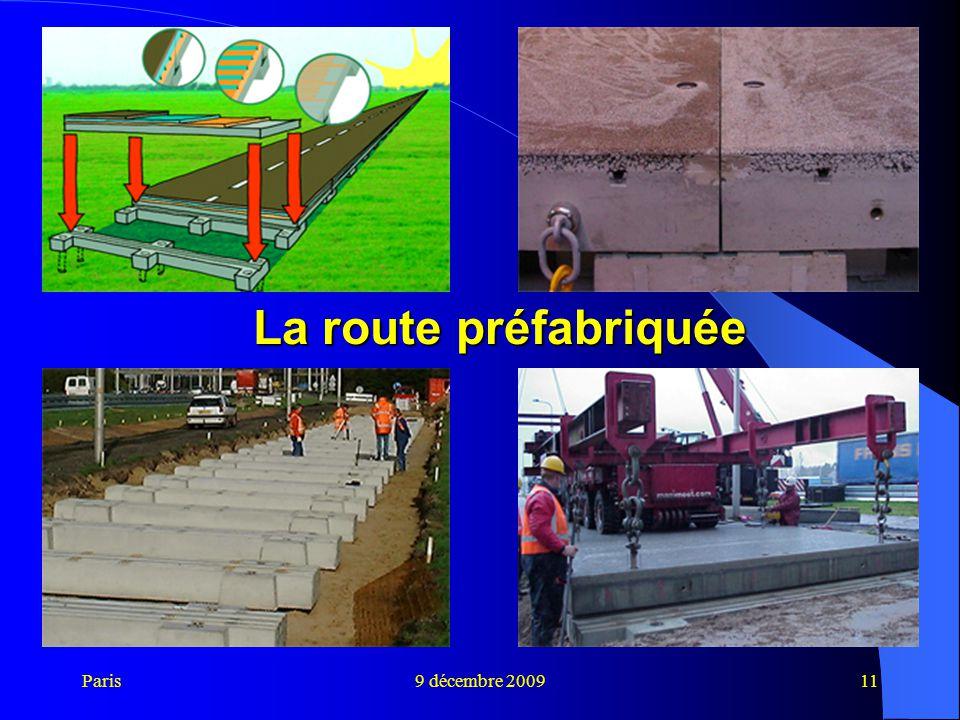 La route préfabriquée Paris 9 décembre 2009