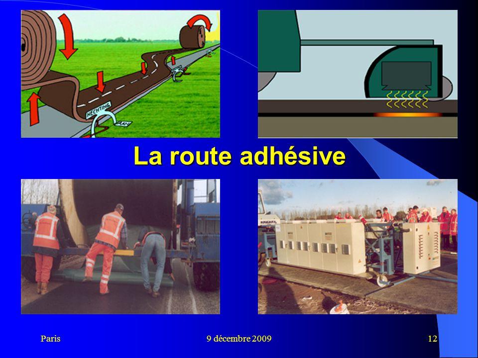 La route adhésive Paris 9 décembre 2009