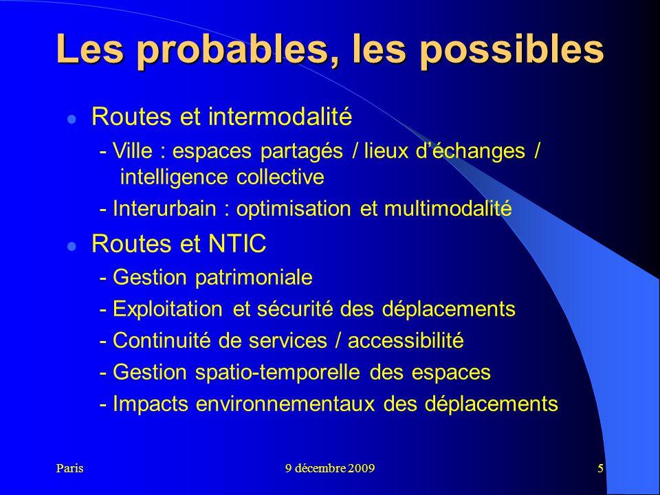 Les probables, les possibles