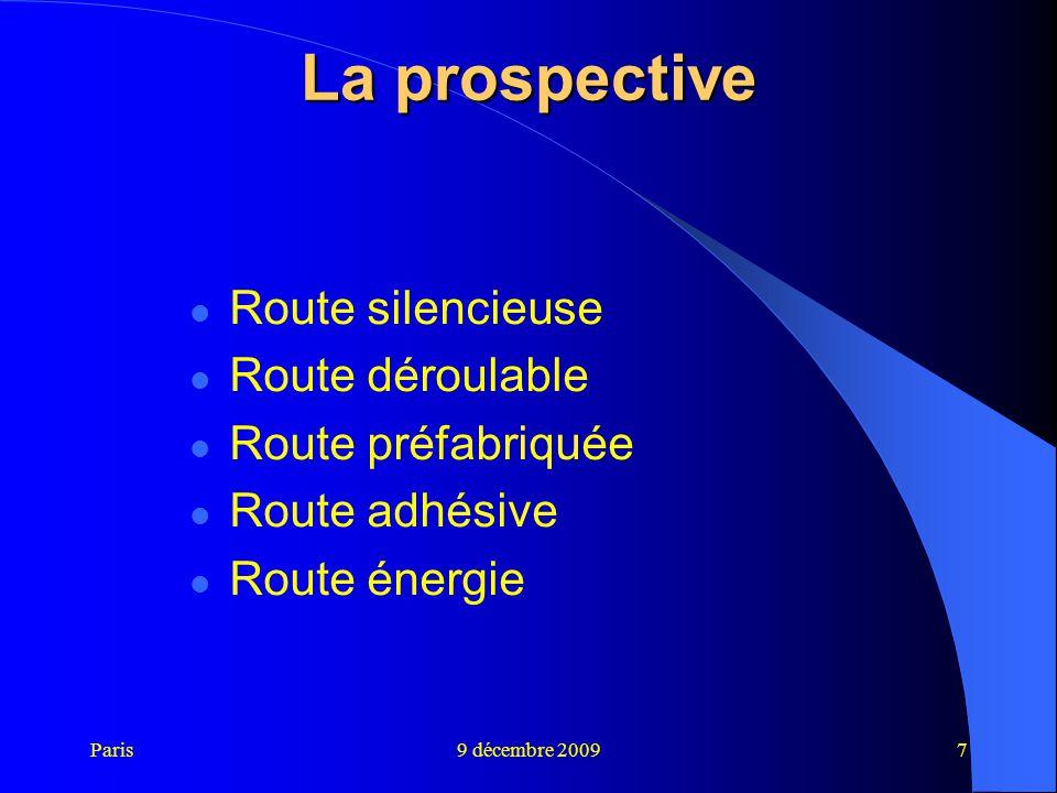 La prospective Route silencieuse Route déroulable Route préfabriquée