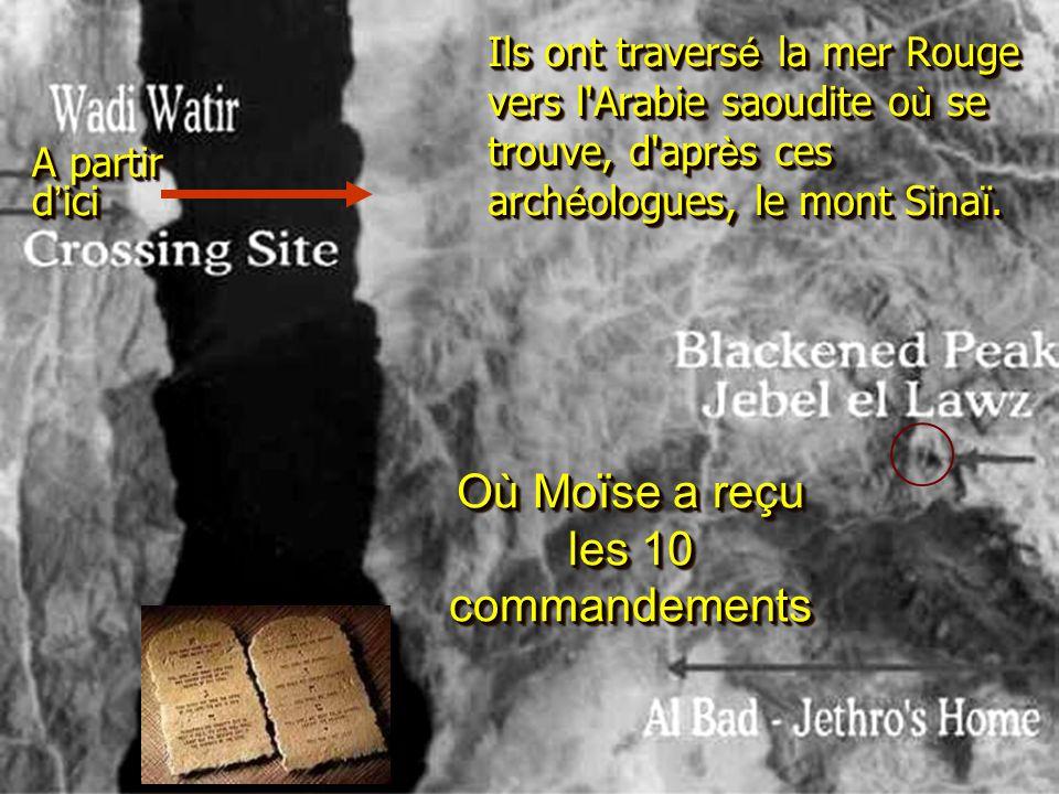 Où Moïse a reçu les 10 commandements