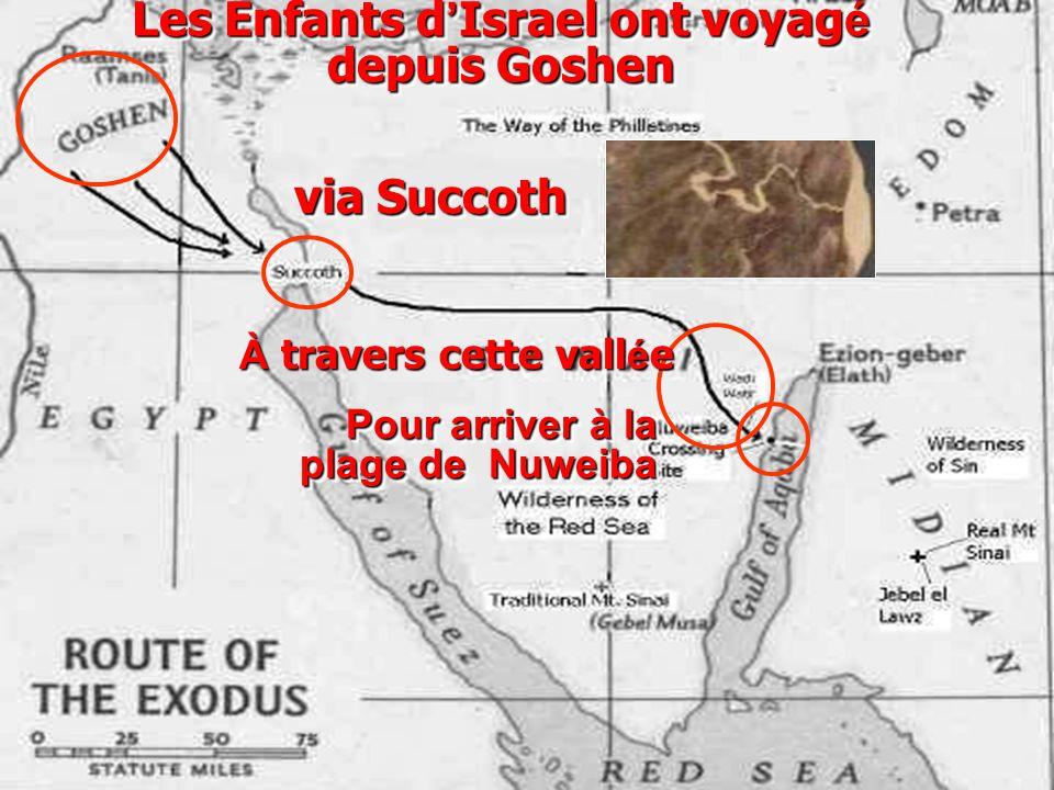Les Enfants d'Israel ont voyagé depuis Goshen