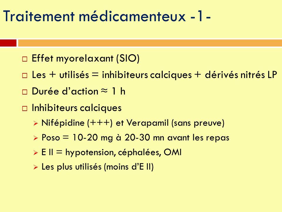 Traitement médicamenteux -1-