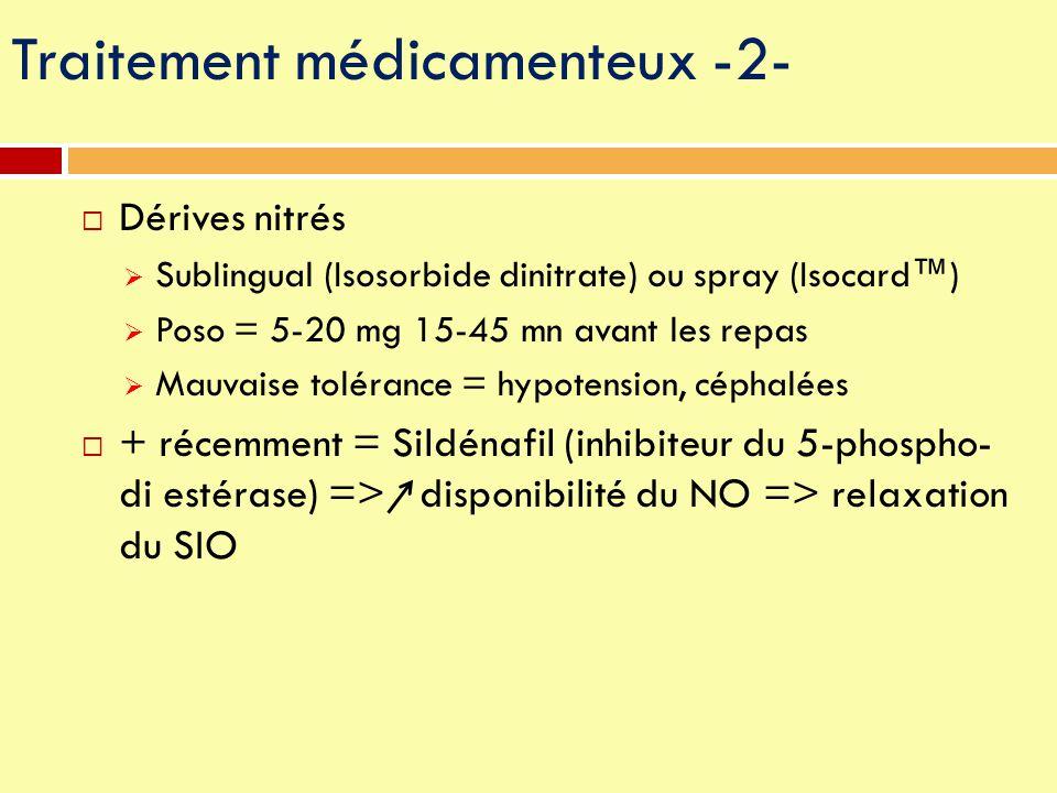 Traitement médicamenteux -2-