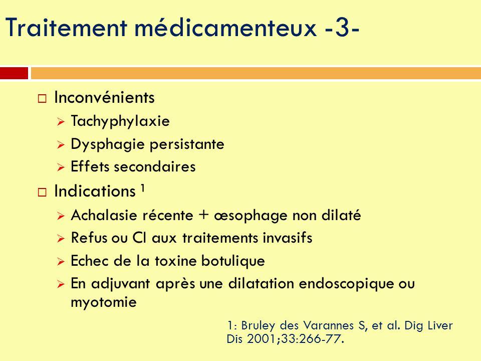 Traitement médicamenteux -3-