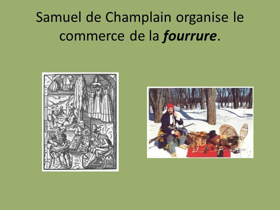 Samuel de Champlain organise le commerce de la fourrure.